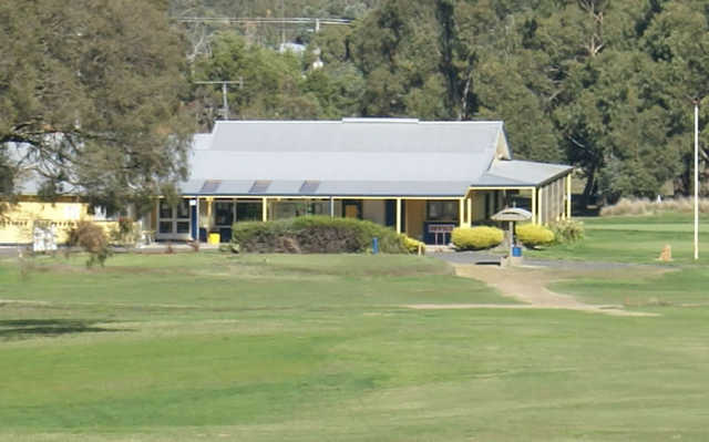 A view of the clubhouse at Kyneton Golf Club