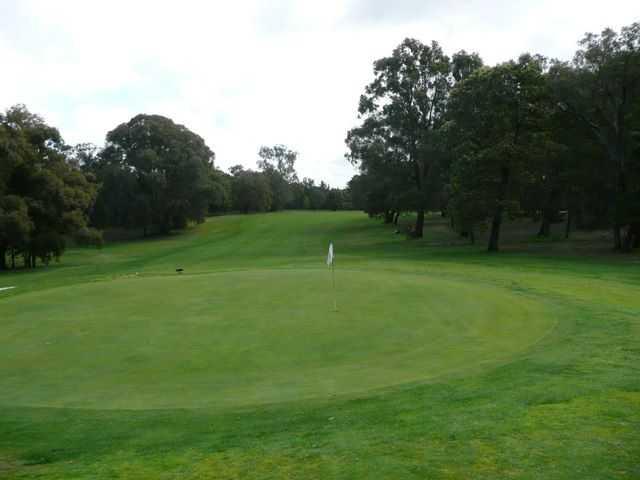 A view of the 3rd green at Kyneton Golf Club