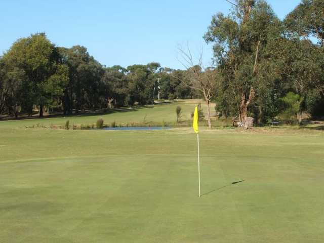 A view of green #3 at Lang Lang Golf Club