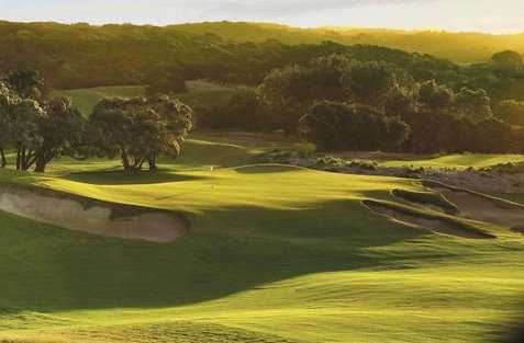 A view of the 2nd green at Legends Course from Moonah Links