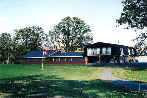 A view of the clubhouse at Kings Mill Golf Club