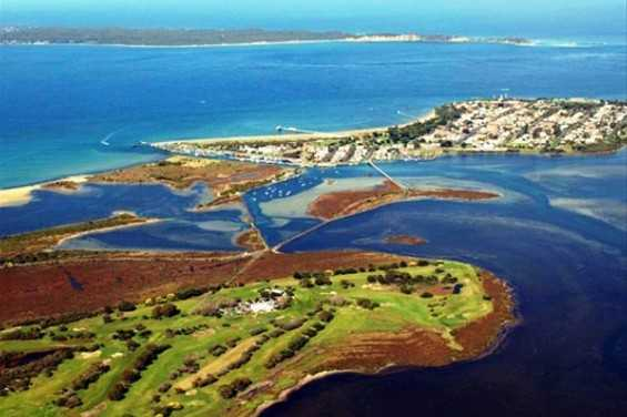 Aerial view from Queenscliff Golf Club
