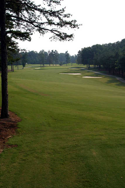 A view of the 1st fairway at Forest Oaks Country Club