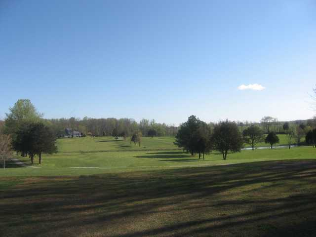 A view of fairway #1 at Southern Hills Golf & Country Club