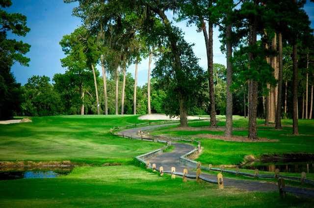 A view from Hyde Park Golf Club with undulating path in foreground