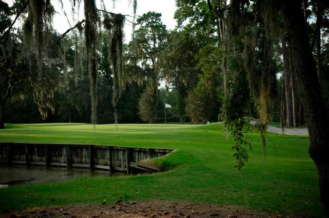 A view of a green at Hyde Park Golf Club