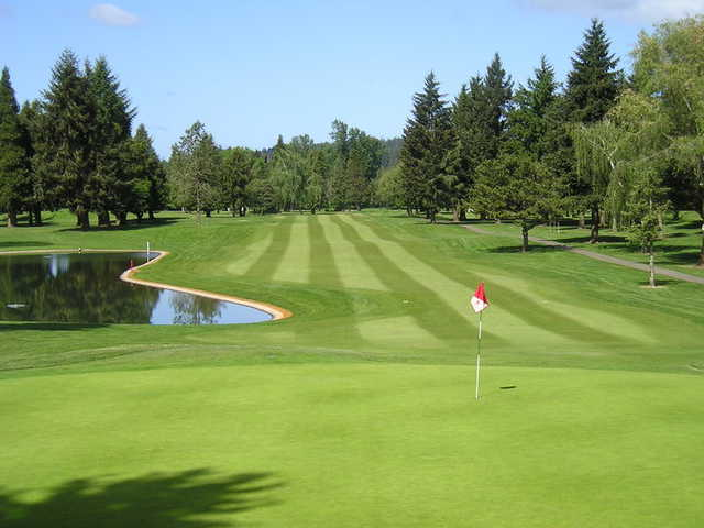 A view of the 6th hole and fairway at Albany Golf & Event Center