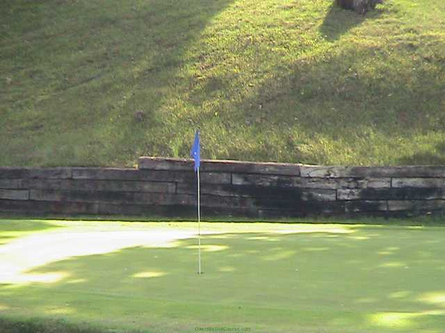 A view of a hole at Oak Hills Golf Course