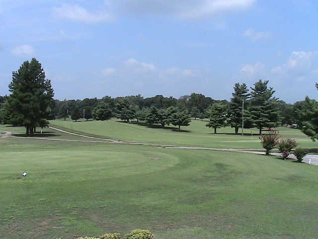 A view from tee at Oak Hills Golf Course