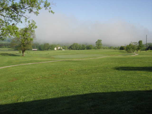 A view of the driving range towards the Collins River & McMinnville from The Reserve At Collins River