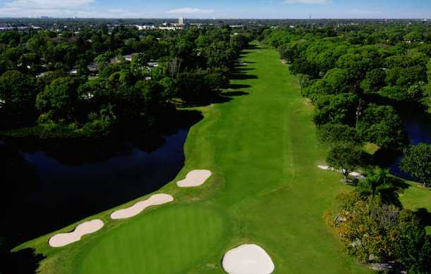 Aerial view of the 6th hole at St. Petersburg Country Club
