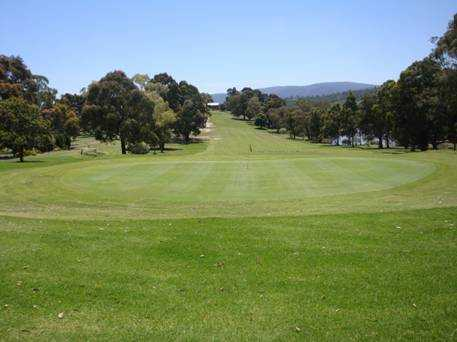 A view of the 1st green at Whittlesea Country Club