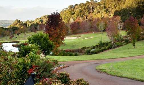 A fall view from Araluen Golf Resort