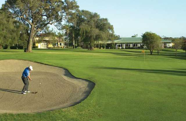A view of the clubhouse at Busselton Golf Club