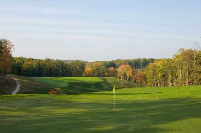 A view of the 8th green from the Woodhaven course at Glade Springs Village.