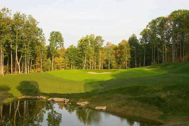 A view of the 1st hole from the Woodhaven course at Glade Springs Village.
