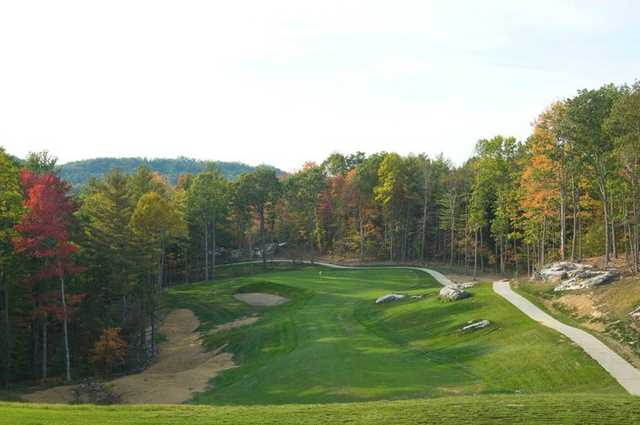 A view of the 12th fairway and green from the Woodhaven course at Glade Springs Village.