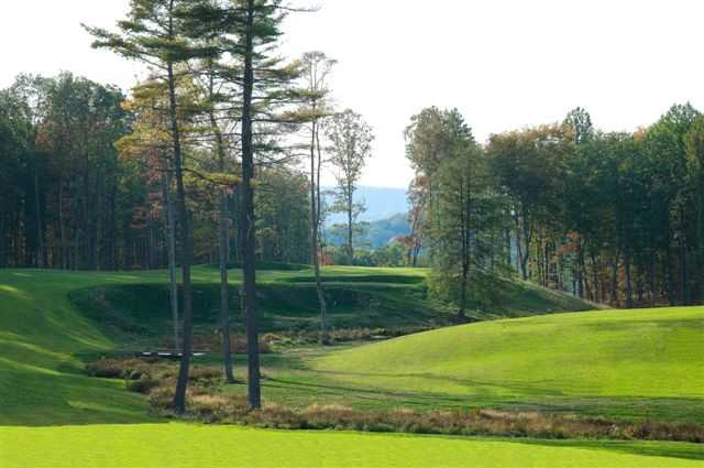 A view of the 10th hole from the Woodhaven course at Glade Springs Village
