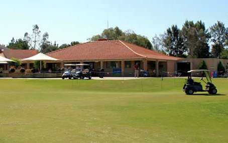 A view of the clubhouse at Collier Park Golf Course