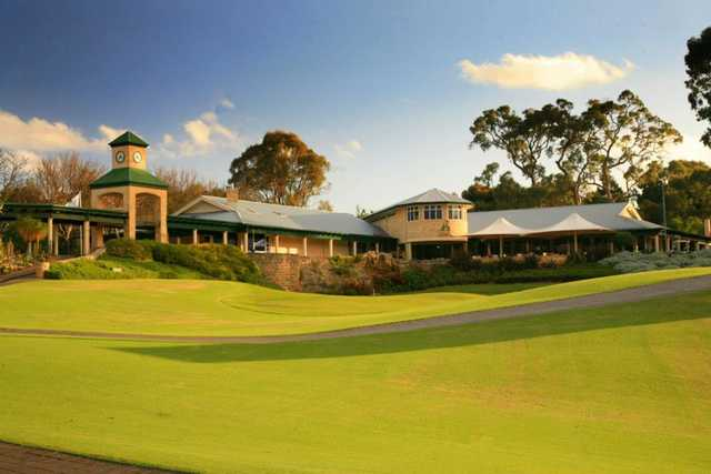 A view of the clubhouse at Joondalup Country Club