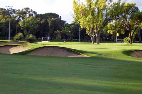 A view of the 12th green at Nedlands Golf Club