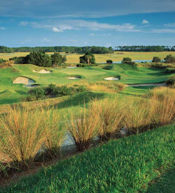A view of the 5th green from the Cassique Course at Kiawah Island Club