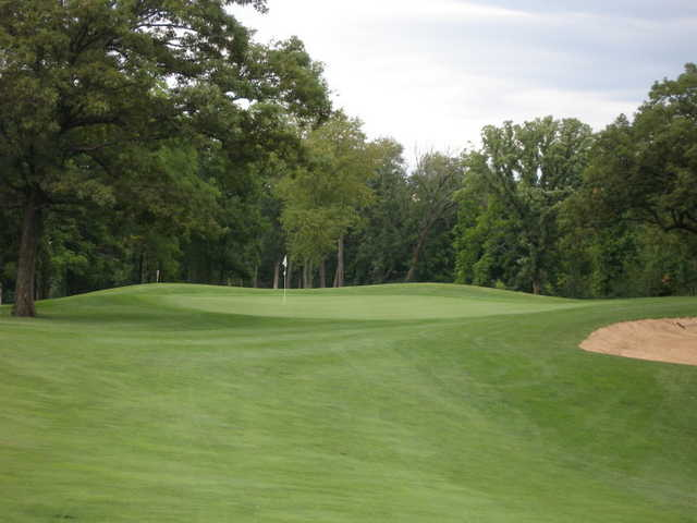 A view of hole #13 at Prairie Woods Golf Course
