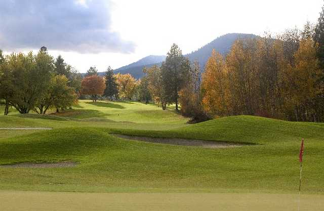 A fall view from hole #7 at Dominion Meadows Golf Course