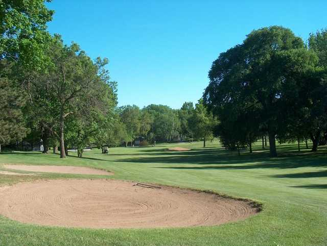 A view of fairway #1 at Skyline Golf Course