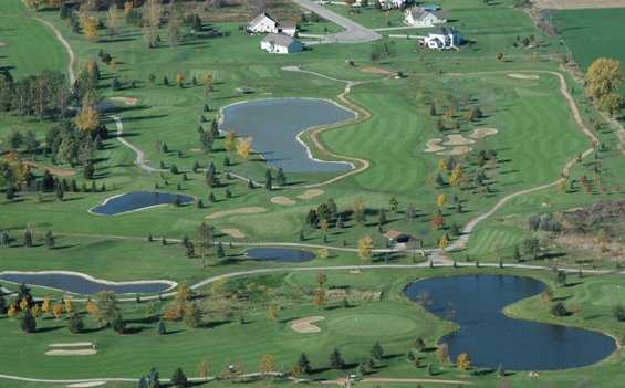 Aerial view from Mid Vallee Golf Course