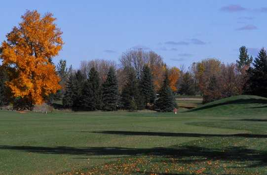 A fall view of fairway at Mid Vallee Golf Course