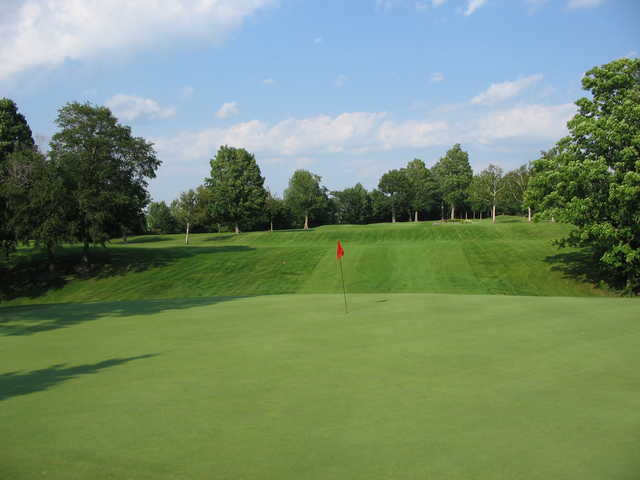 A view of a hole at Ledgeview Golf Course
