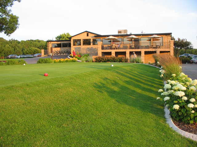 A view of the clubhouse at Ledgeview Golf Course