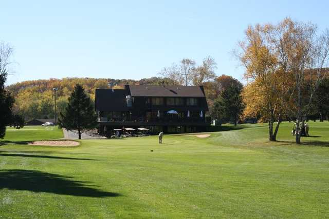A view of the clubhouse at Princeton Valley Golf Course