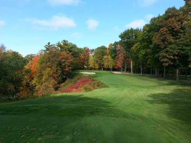A fall view from fairway at Oneida Golf & Country Club