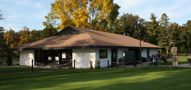 A view of the clubhouse at Shorewood Golf Course