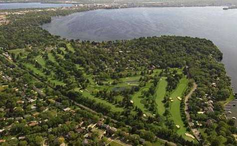 Aerial view from Maple Bluff Country Club