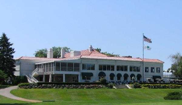 A view of the clubhouse at Maple Bluff Country Club