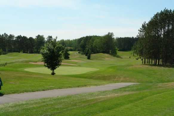 A view of green at Merrill Golf Club