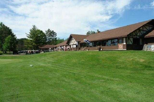 A view of the clubhouse at Merrill Golf Club
