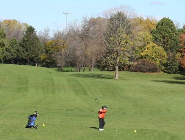A view from a tee at Lincoln Park Golf Course