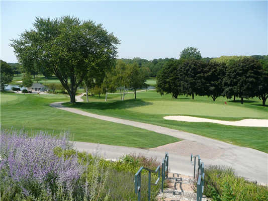 A view of a green at University Club of Milwaukee.