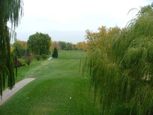 A view from tee #1 at Oak Hills Golf Course