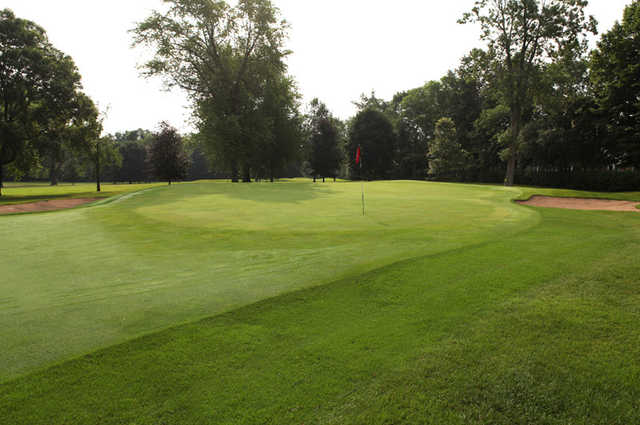 A view of the 11th green at Oshkosh Country Club