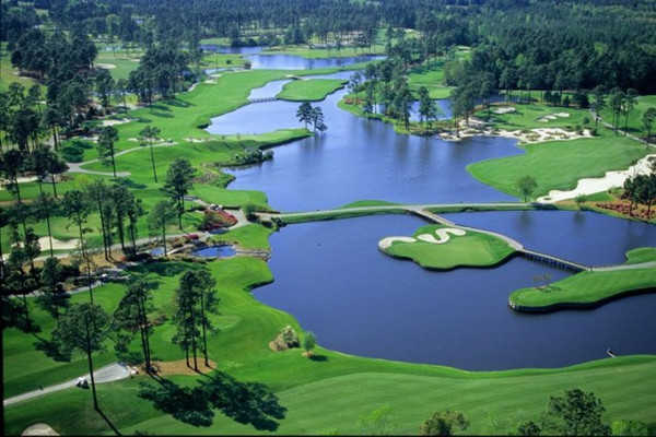 Aerial view of the 12th hole from King's North at Myrtle Beach National Golf Club