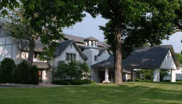A view of the clubhouse at Racine Country Club