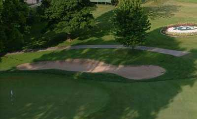 A view of a hole at Racine Country Club