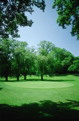 A view of green #8 at Washington Park Golf Course