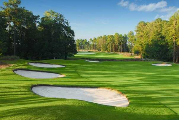 A view of the 7th fairway from the Hummingbird Course at Wild Wing Plantation