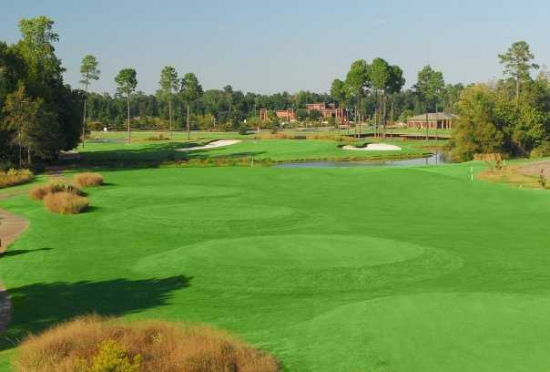 A view of the 9th hole from the Hummingbird Course at Wild Wing Plantation